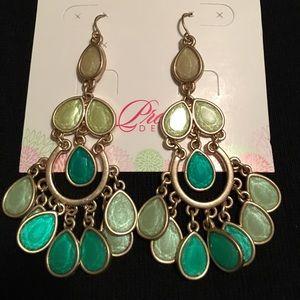 Jewelry - Premier Jewelry green chandelier earrings